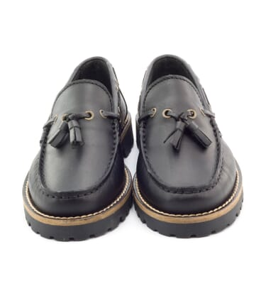 Boni Floch, boys black leather shoes -