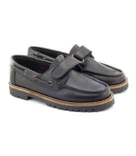 Boni Marco, boys black leather shoes