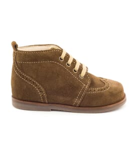 Boni Bear - Brown Suede Babies Lace-up Boots