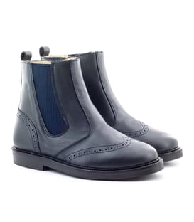 Boni Clovis – navy blue leather Chelsea boots