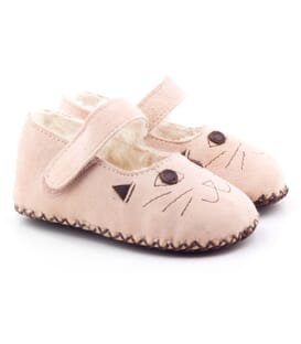 Boni Cat - Suede Fur Pram Shoes