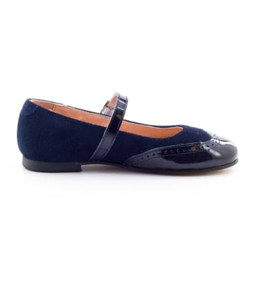 Boni Aliénor - suede and patent leather ballet flats for girls -