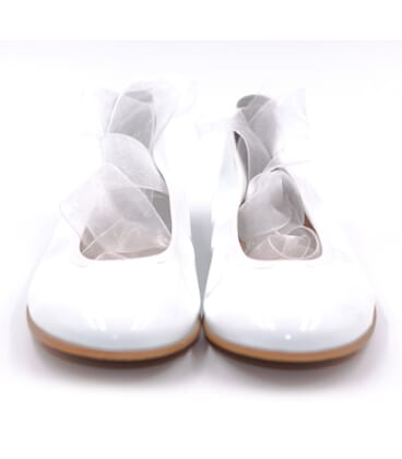 Boni Bella - girls white leather shoes
