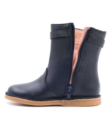 Boni Houston - boots fille cuir bleu marine